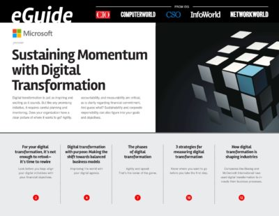 Sustaining Momentum with Digital Transformation