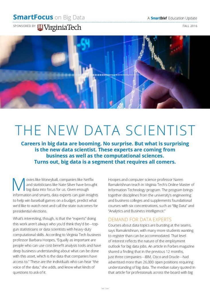 The New Data Scientist: Careers in Big Data are Booming