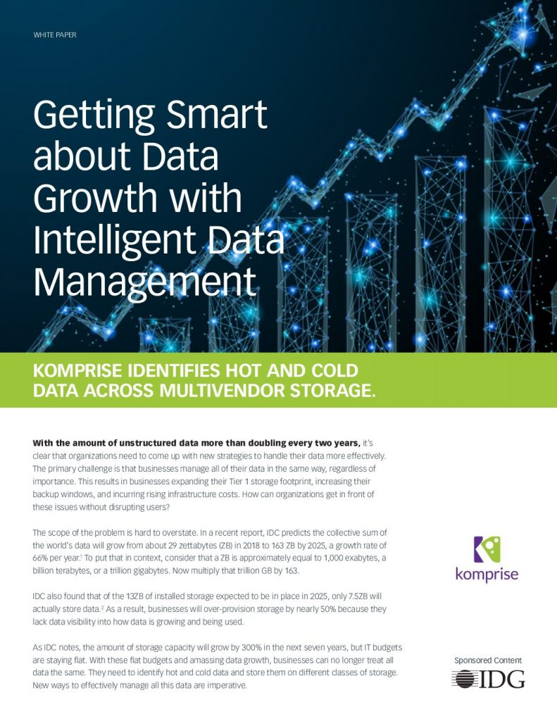 Getting Smart about Data Growth with the Intelligent Data Management