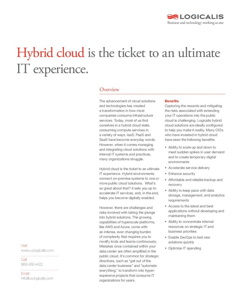 Hybrid cloud is the ticket to the an ultimate IT experience