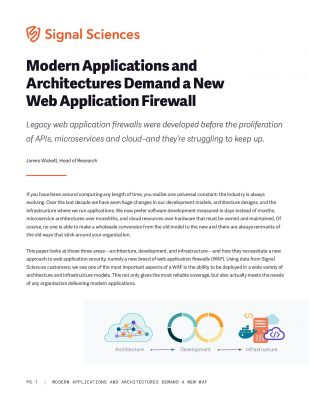 Modern Applications and Architectures Demand a New Web Application Firewall