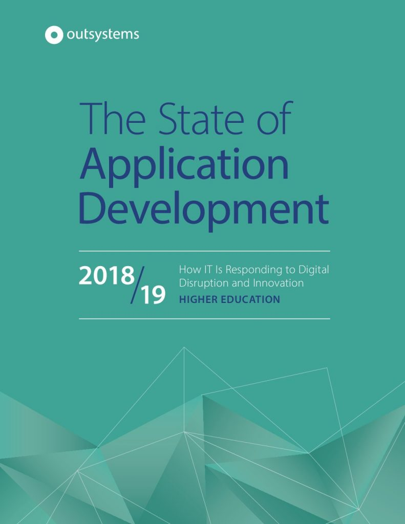 State of Application Development, 2018 – 2019: Higher Education