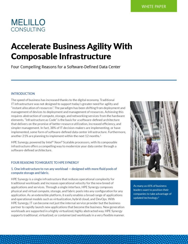 Accelerate Business Agility With Composable Infrastructure