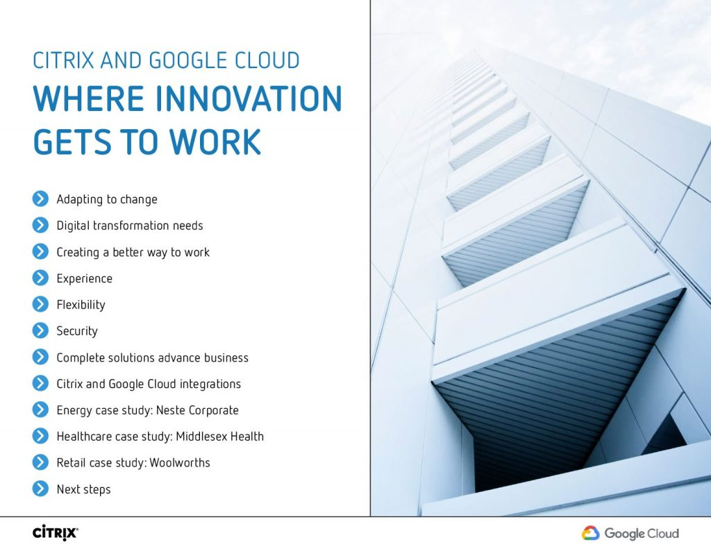 Citrix And Google Cloud Where Innovation Gets To Work