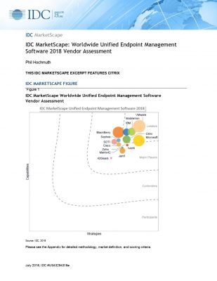 IDC MarketScape: Worldwide Unified Endpoint Management Software 2018 Vendor Assessment Report