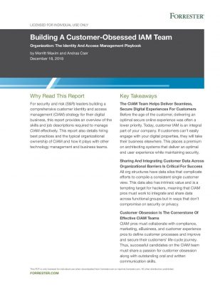 Building A Customer-Obsessed IAM Team