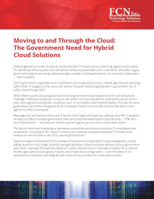 Adopting Hyper Converged Infrastructure Solutions for Government Agencies