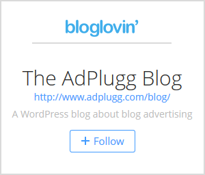 Follow Adplugg With Bloglovin