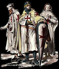 portrait of three Knights templar