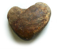 heart shaped stone found at oak island in the money pit