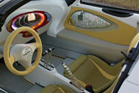 picture of the squba submersible car's interior