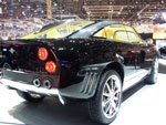 spyker d12 super sport utility vehicle on display at the geneva auto show