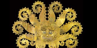 Incan gold mask