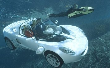 sQuba submersible sports car underwater
