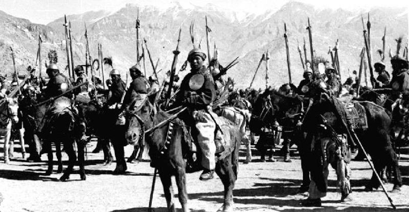 Ghengis Khan on a horse