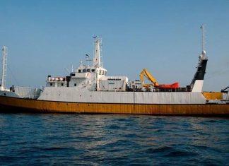 Odyssey Explorer treasure hunting ship at sea