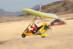Ultralight Trike Flying over the desert in the Southwest USA