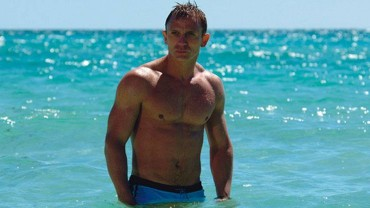 James Bond coming out of the ocean