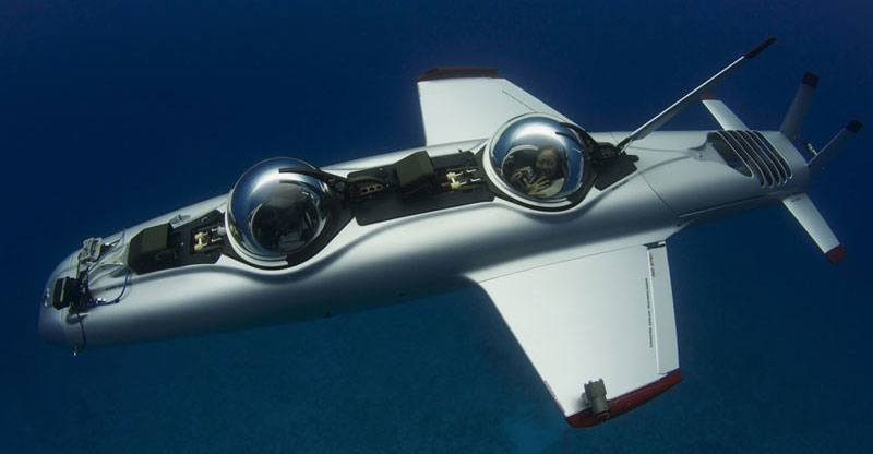 DeepFlight Super Falcon Submarine under water