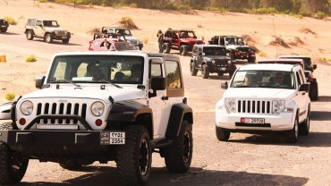 Convoy of 4x4s during 2009 Jeep Jamboree