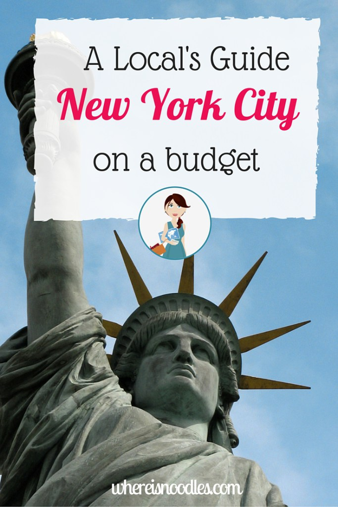 A locals guide to...nyc on a budget 1
