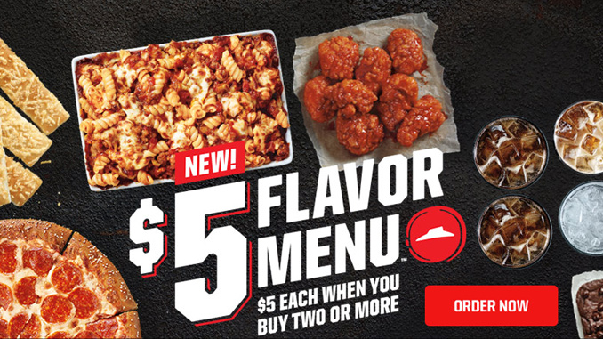 Pizza Hut 5 Dollar Menu