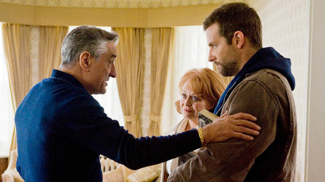 Robert De Niro, Jacki Weaver, and Bradley Cooper in Silver Linings Playbook