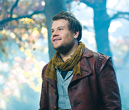 James Corden plays The Baker in Into The Woods