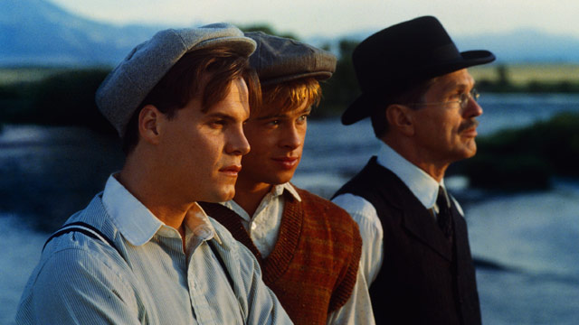 Craig Sheffer, Brad Pitt, and Tom Skerritt in A River Runs Through It