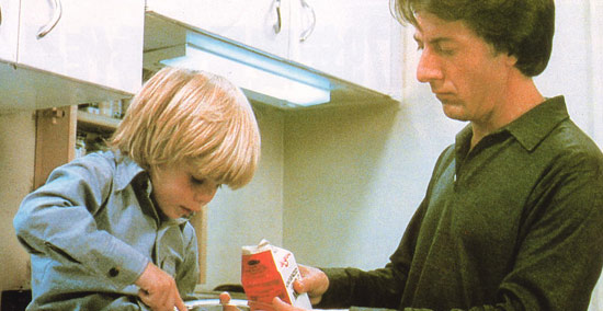 Dustin Hoffman stars with a young Justin Henry in Kramer vs. Kramer
