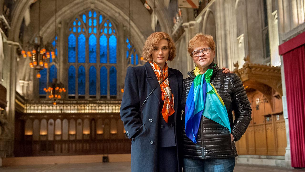 Rachel Weisz with Deborah E. Lipstadt