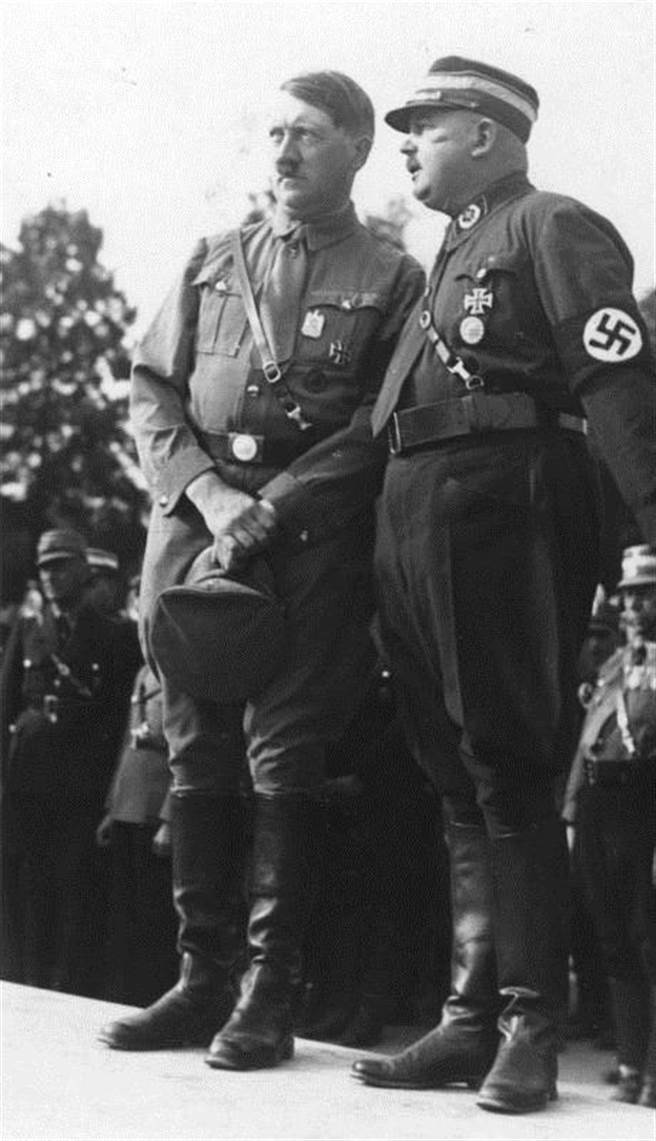 Adolph Hitler and Ernst Röhm