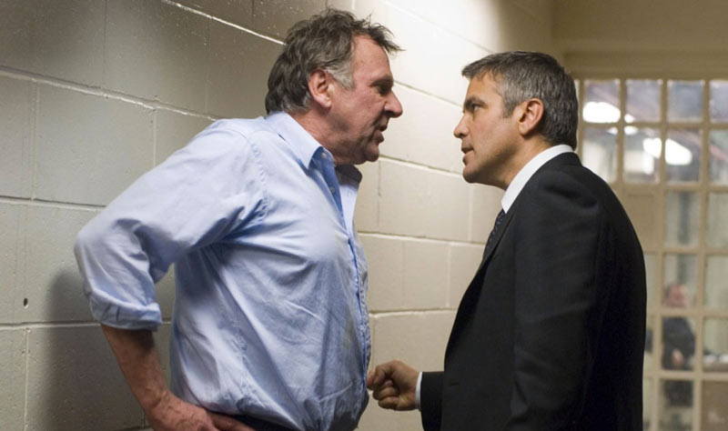 Tom Wilkinson and George Clooney in Michael Clayton