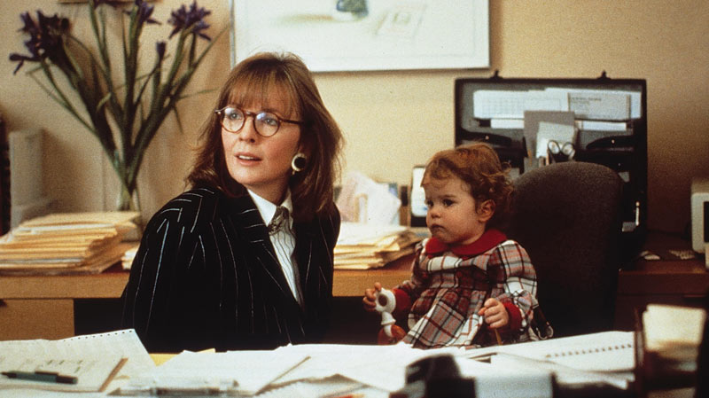 Diane Keaton and child in Baby Boom