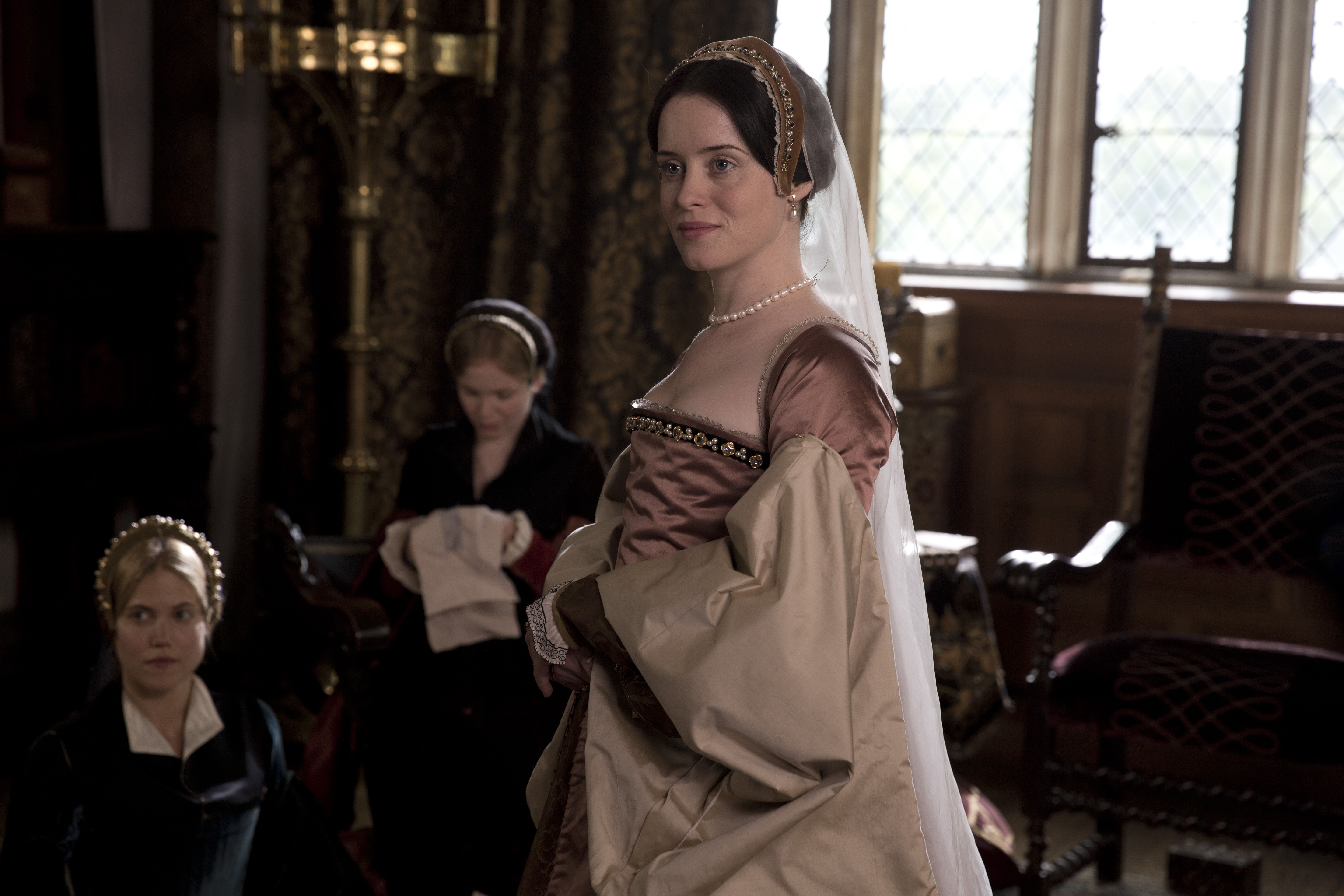 Foy as Anne Boleyn in Wolf Hall