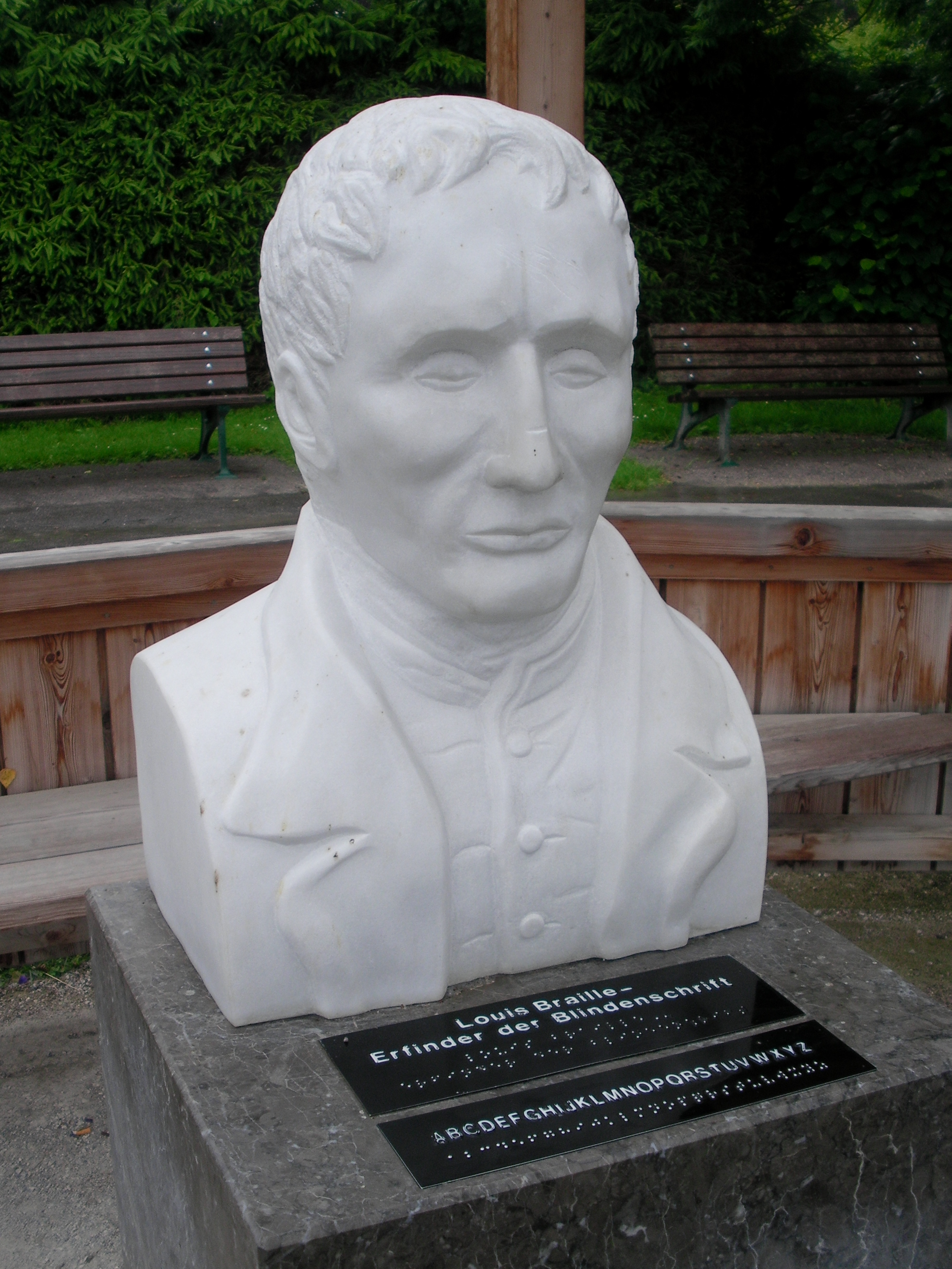 A monument to Louis Braille (in braille)