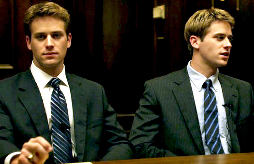 Armie Hammer (and maybe Josh Pence) as the Winklevoss twins in [em]The Social Network[/em]