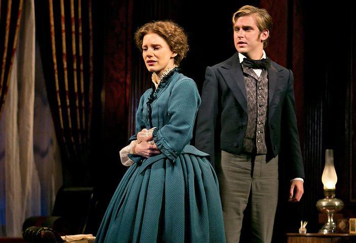 Jessica Chastain with Stevens in [em]The Heiress[/em]