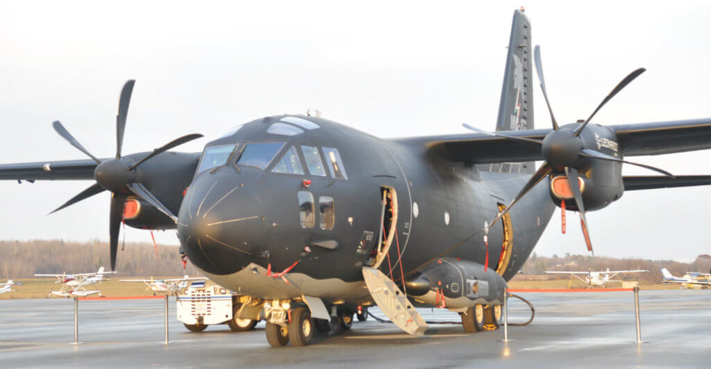 The C-27J (pictured) is one of three aircraft currently being considered along with Airbus' C295 and Embraer's KC-390. Kenneth Swartz Photo