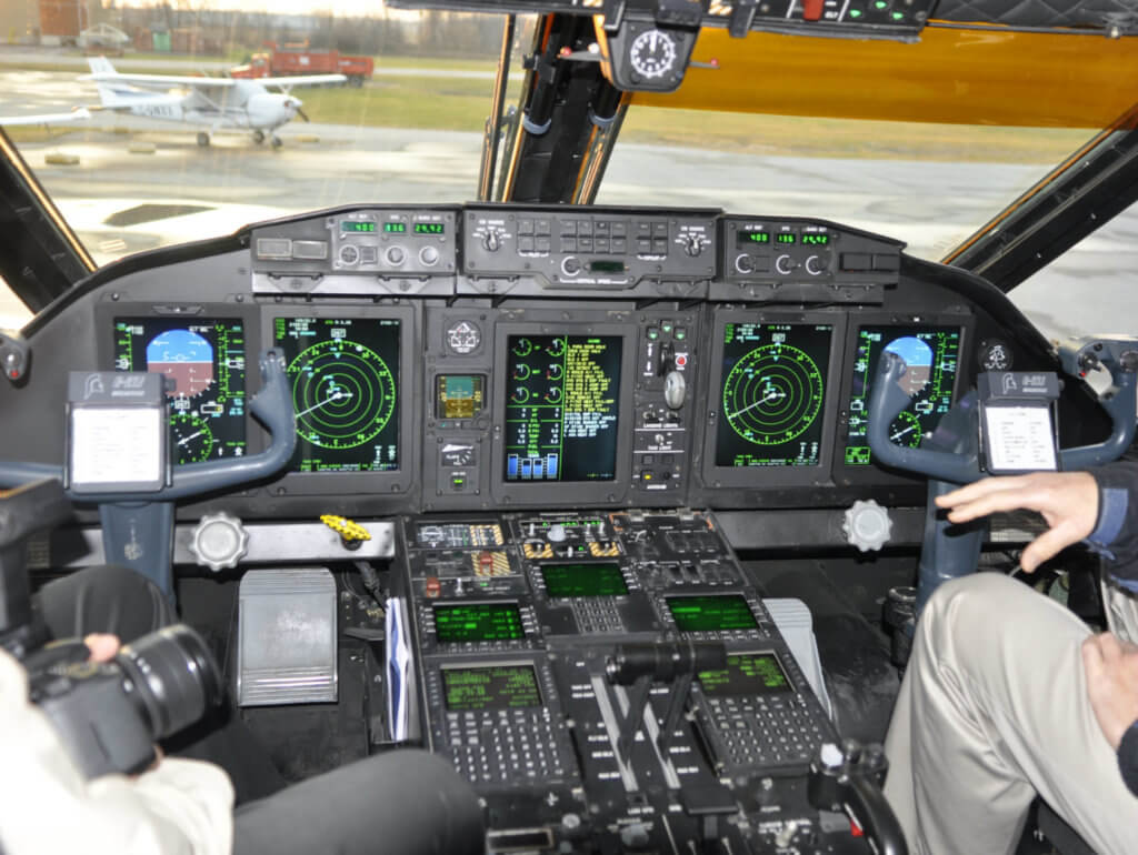 A view inside the cockpit of the C-27J Spartan. Kenneth Swartz Photo