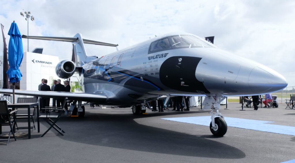 The PC-24 is the world's first business jet to be equipped with a cargo door as standard, with takeoff and landing performance that allows the use of very short and even unmade runways. The aircraft made its NBAA debut on Nov. 2, at the Orlando Executive Airport. Ben Forrest Photo