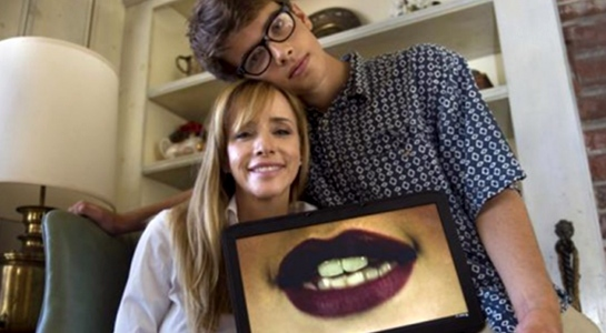 Laura Kasbar and her son, Max.