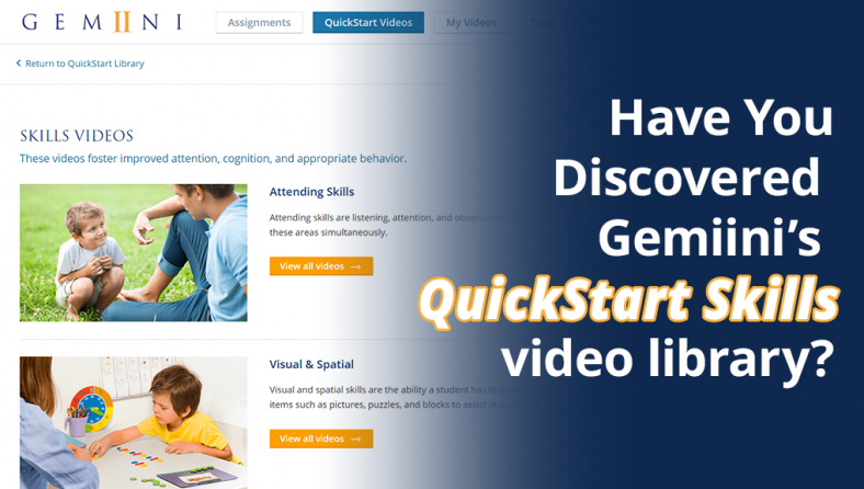 Have You Discovered Gemiini's QuickStart Skills video library?