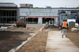 Construction is still underway at Stanley Marketplace on Tuesday Aug. 23, 2016. Photo by Gabriel Christus/Aurora Sentinel