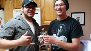 Jordan Mulumulu and Dalton McCreary in a picture from Mulumulu's facebook page. McCreary dided Monday after being hit by a driver police say was drunk, and Mulumulu credits McCreary with saving his life by shoving him out of the vehicle's path.