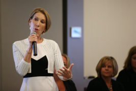 Carly Fiorina, former CEO of Hewlett Packard, speaks during a working women event hosted by US Rep. Mike Coffman on Saturday Aug. 27, 2016 at CSU Global Campus. Photo by Gabriel Christus/Aurora Sentinel