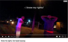 ACLU Tasing video