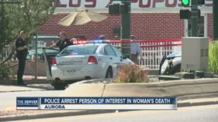 Scene of where Aurora and Denver police arrested James Anthony Draper, 33 and accused him of leading cops on a high-speed chase in parts of the city. PHOTO COURTESY OF KMGH TV