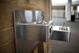 A water fountain at Grandview High School is seen Sept. 13. Aurora Public Schools and Cherry Creek School District are shoring up plans to test for lead, but officials said testing is merely precautionary. Photo by Gabriel Christus/Aurora Sentinel