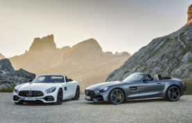 This undated handout image provided by the MediaPortal of the Daimler AG shows the 2016 model of the AMG GT Roadster and AMG GT C Roadster. Major automakers are finding the Paris auto show, held in a city whose mayor wants to ban diesels to reduce pollution, as a fine place to show off new zero-emission electric cars. Most prominently, Volkswagen will unveil a new small electric car as part of the company's pivot from diesel to more electric models as it struggles to recover from a scandal over 11 million cars that were rigged to evade diesel emissions tests. It runs Saturday, Oct. 1, 2016 through Oct. 16 at the Paris expo Porte de Versailles. (Daimler AG via AP)